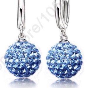 New Years ball drop earrings